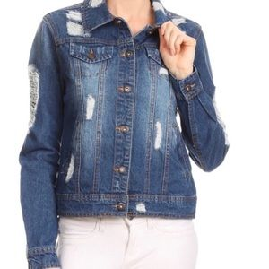New Distressed Denim Jacket